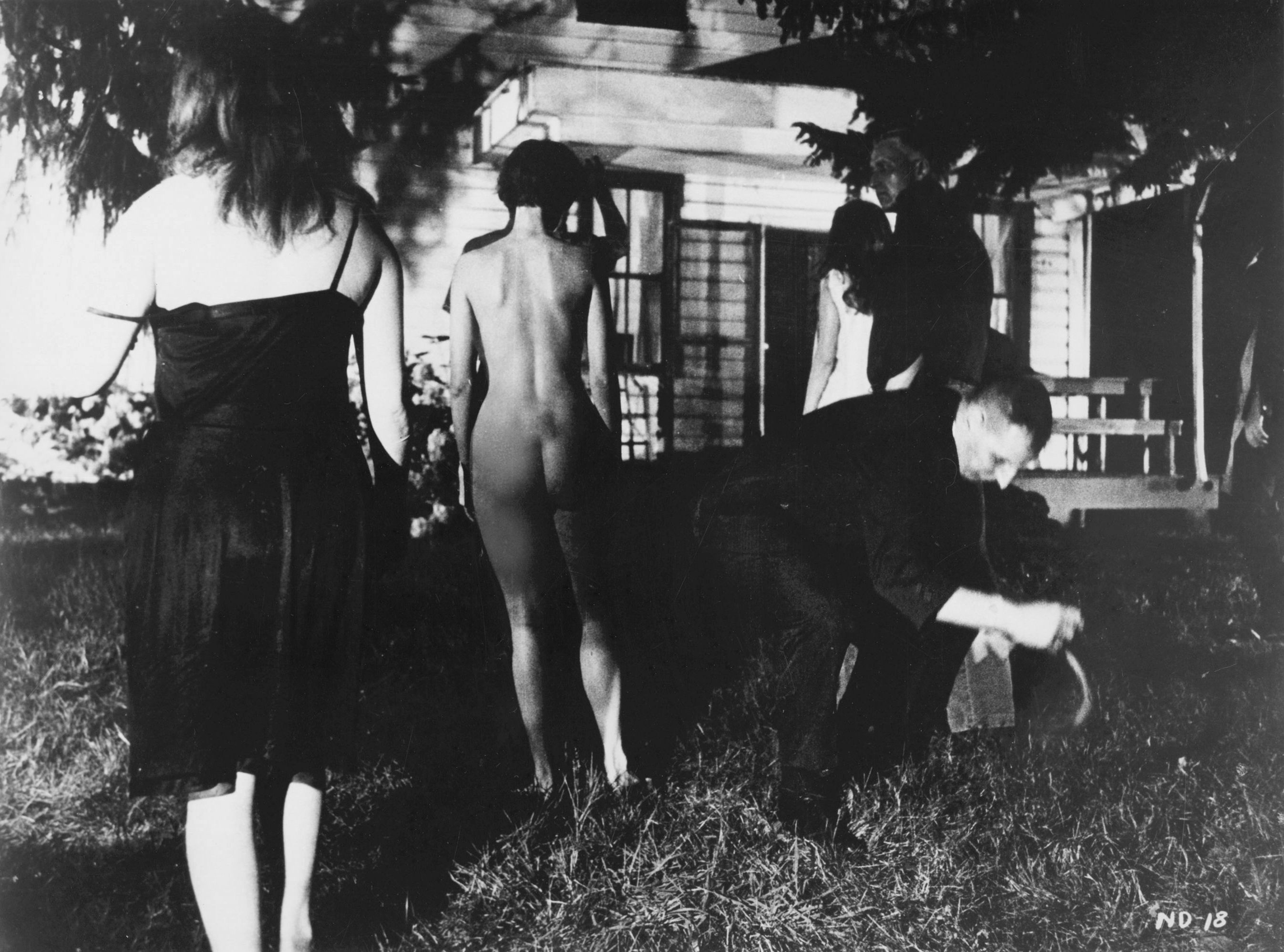 Night of The Living Dead outside the farm house