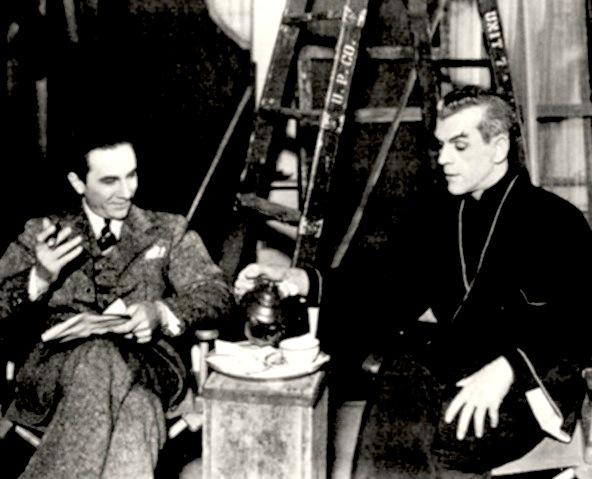 Boris and Bela in Edgar Ulmers The Black Cat