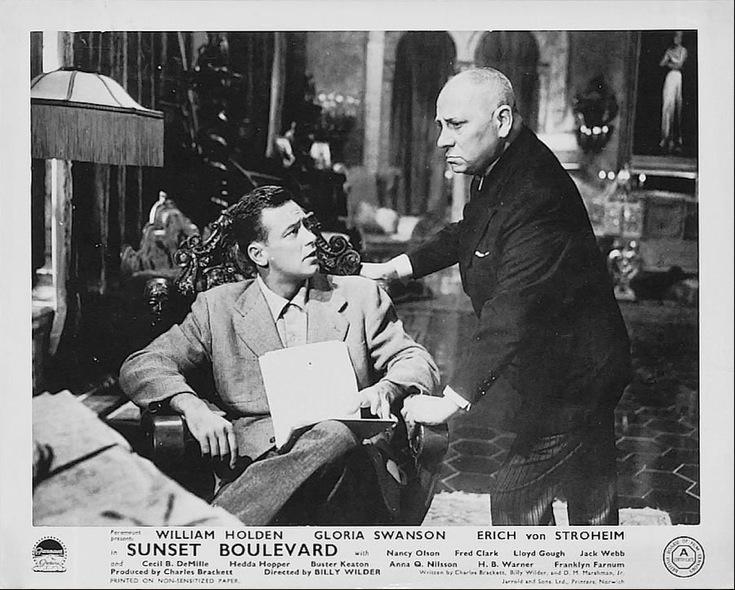 Holden and Stroheim Sunset Blvd Lobby Card
