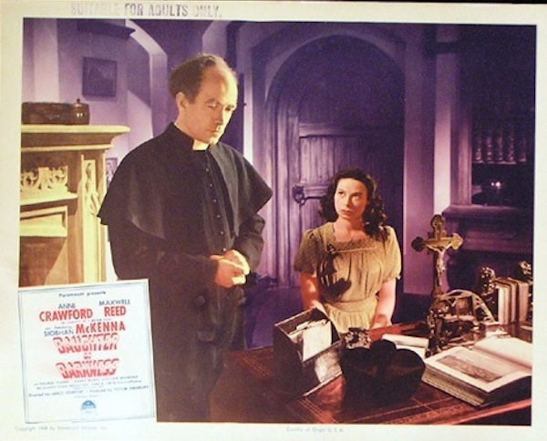 Daughter of Darkness lobby card Father Cocoran