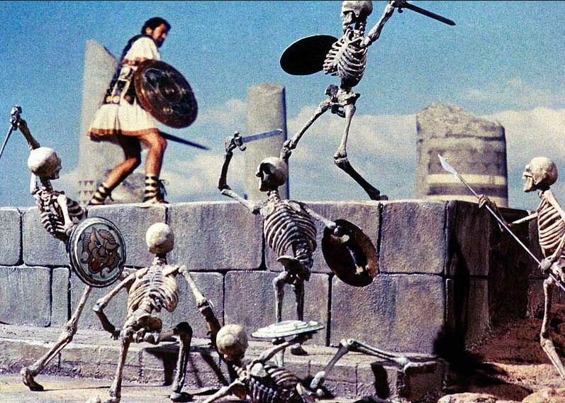 Jason fights the skeleton army
