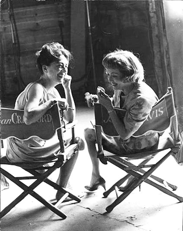 Davis and Crawford on the set of Baby Jane