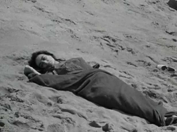 Beach Blanche alone on blanket 4