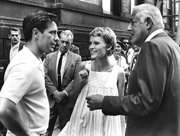 Bill with Mia and John on the set of Rosemary's Baby