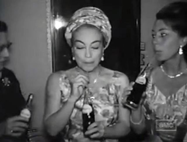 Crawford drinking Pepsi set of Baby Jane