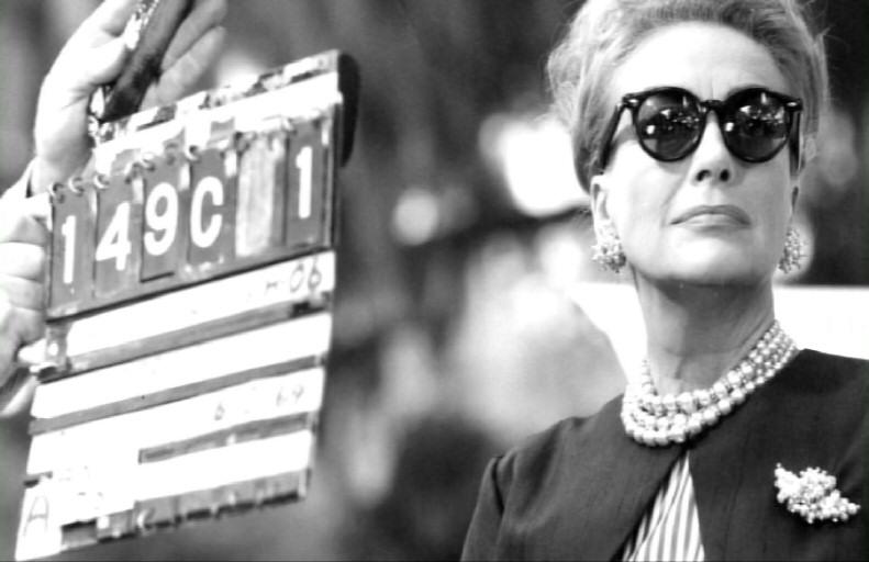 Joan sunglasses on the set Hush