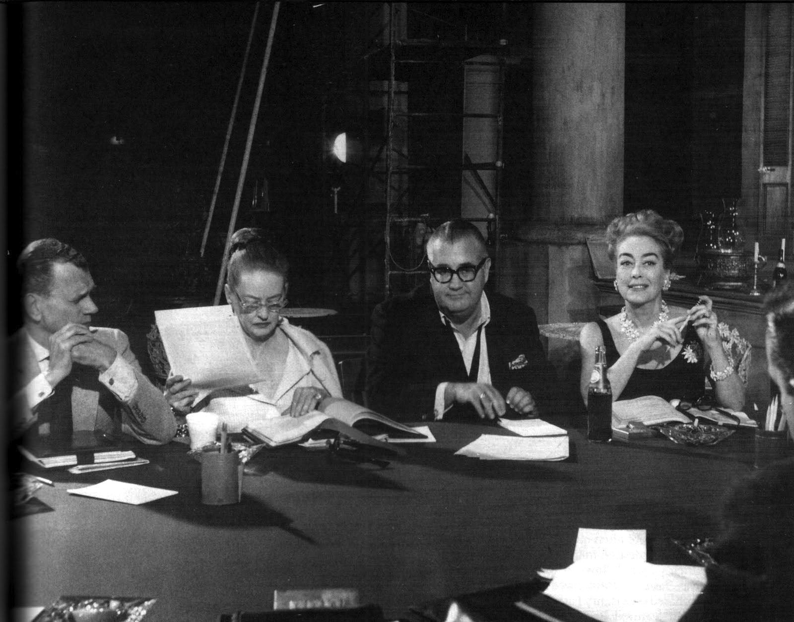 on the set cotten, davis aldrich and crawford