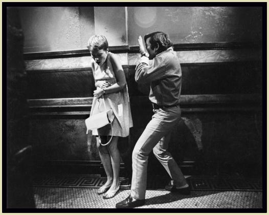Polanski on the set with Mia