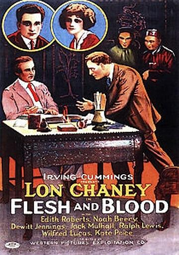 Lon Chaney Flesh & Blood poster