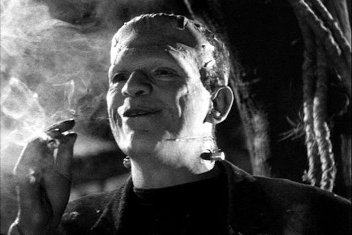 Smoking Frankenstein friends are good