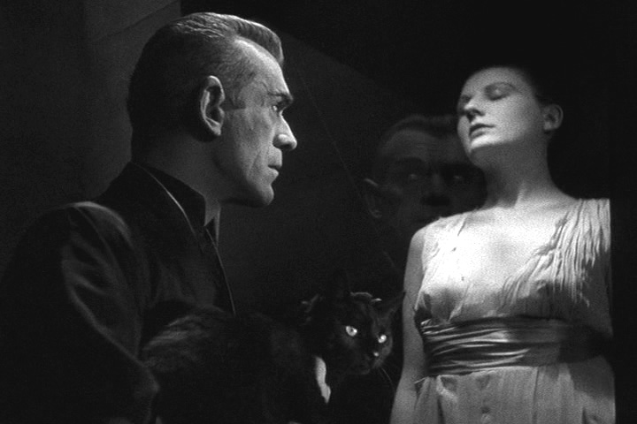 The Black Cat Karloff and dead wife