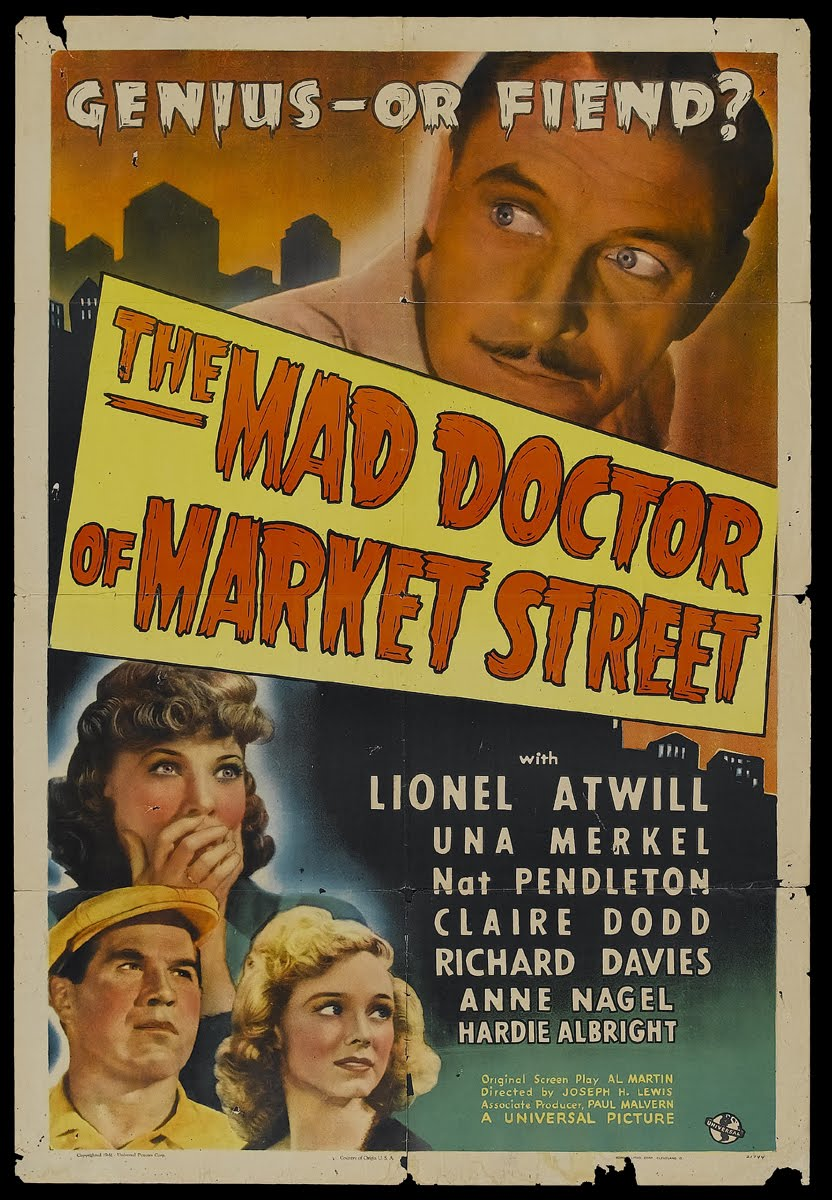 the mad doctor of market st poster