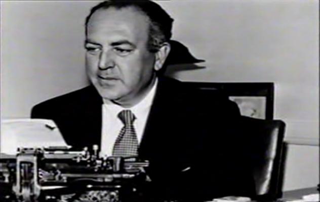 Lewton and typewriter