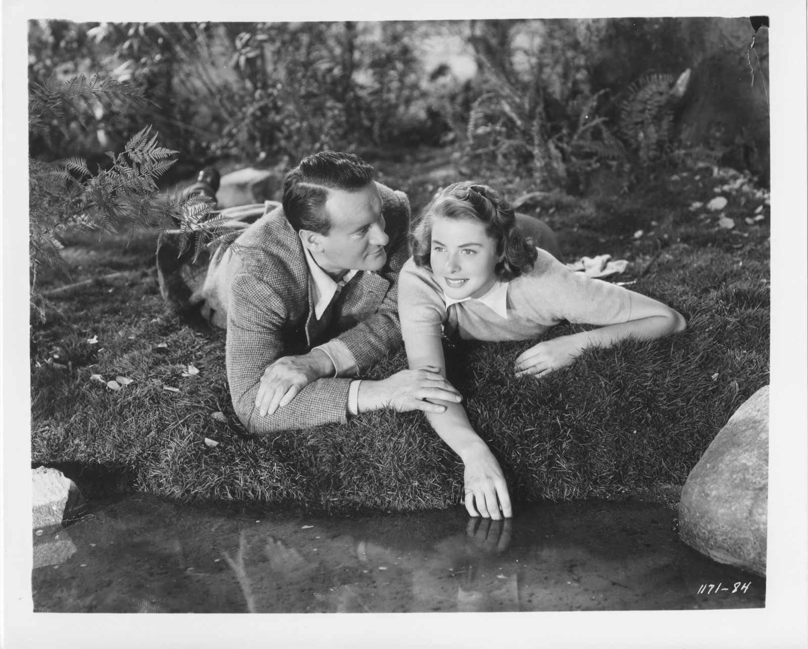 George Sanders and Ingrid Bergman