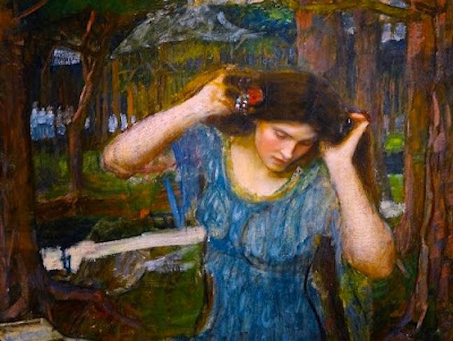 Vain Lamorna A Study for Lamia by John William Waterhouse