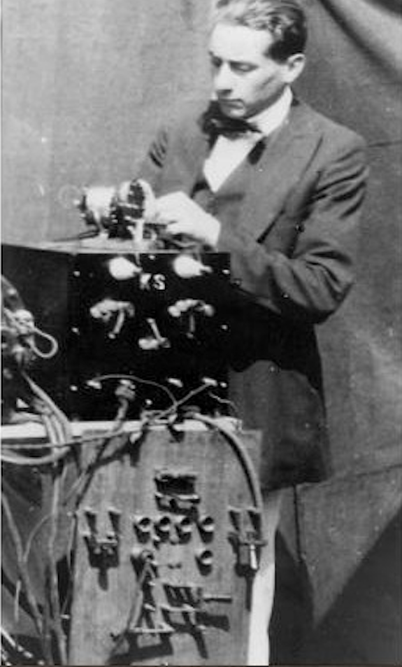 early days Strickfaden assembling a mad scientist apparatus