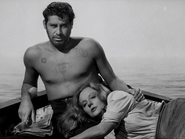 Hodiak and Bankhead in Lifeboat