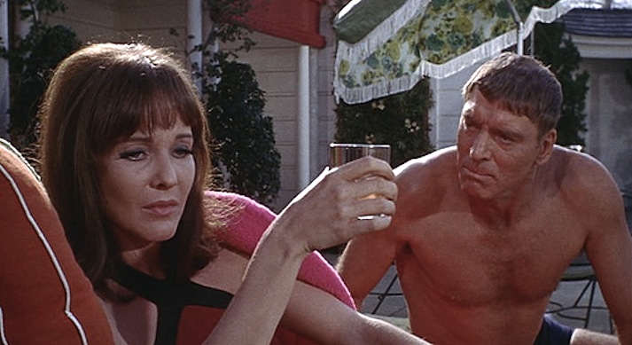 Janice Rule and Burt Lancaster in Frank Perry's The Swimmer