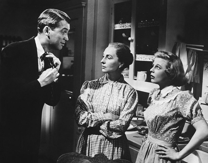 020-agnes-moorehead-theredlist-James Stewart, Agnes Moorehead and June Allyson in The Stratton Story directed by Sam Wood, 1949