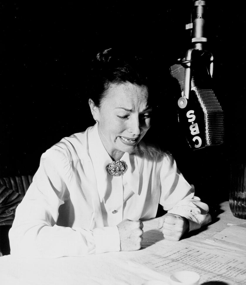 034-agnes-moorehead-theredlist-Agnes Moorehead on CBS Radio, 1945