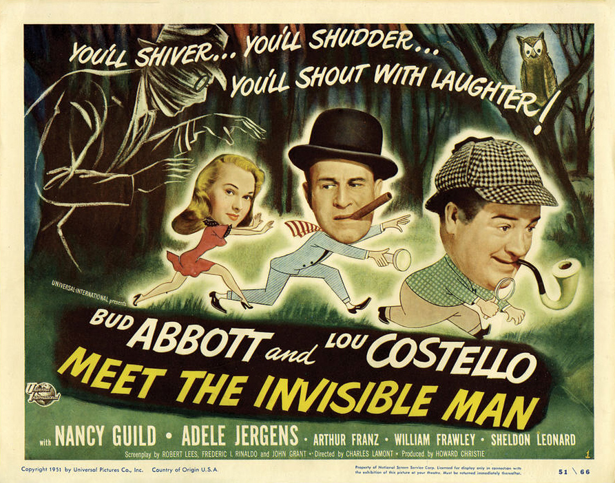 Poster - Abbott and Costello Meet the Invisible Man_02