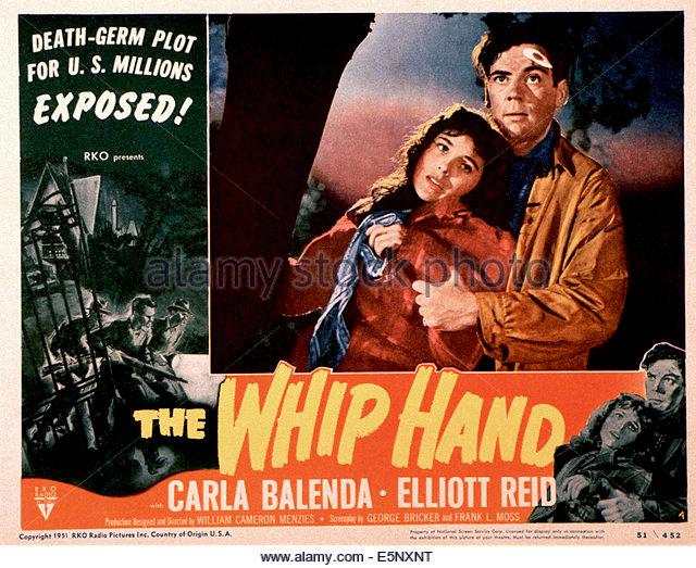 the-whip-hand-us-poster-from-left-carla-balenda-elliott-reid-1951-e5nxnt