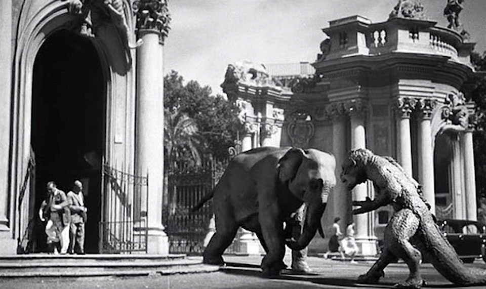 20-million-miles-to-earth-creature-ymir and elephant-in-rome