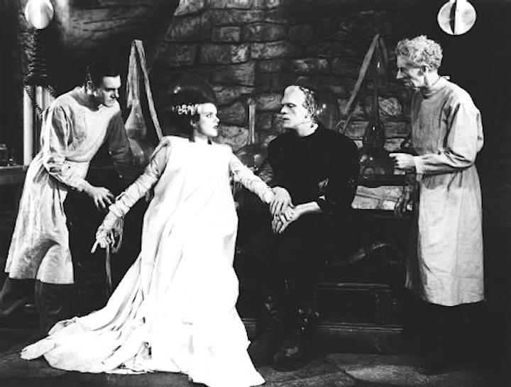 Bride & Frankenstein's monster