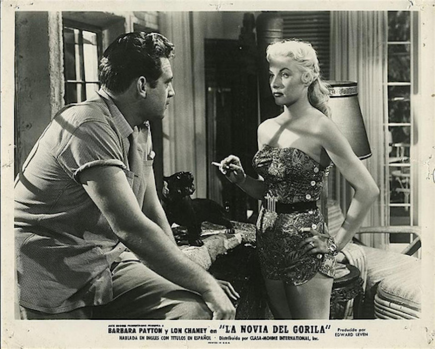 Bride of the Gorilla lobby card Burr and Payton