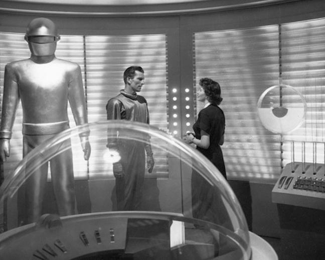 """The Day the Earth Stood Still"" Michael Rennie, Hugh Marlowe, & Patricia Neal 1951 20th **I.V."