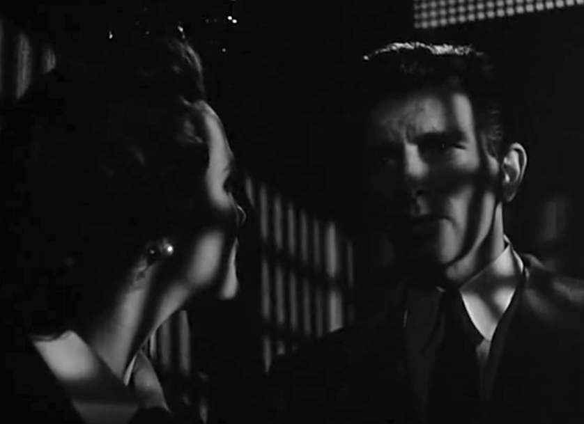 Day the Earth Stood Still Klaatu and Patricia noir frame hiding from the miliary