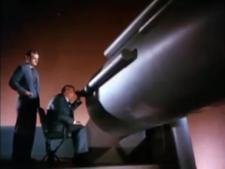Flight to Mars telescope
