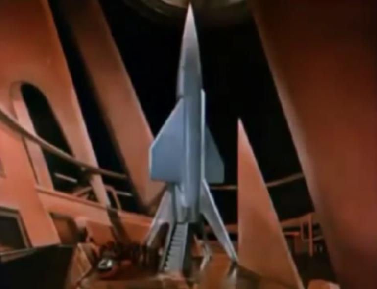 Flight to Mars the ship