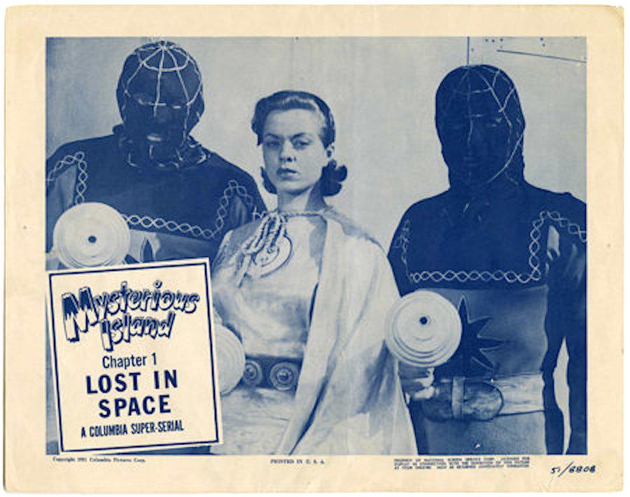 Mysterious Island 1951 serial lobby card