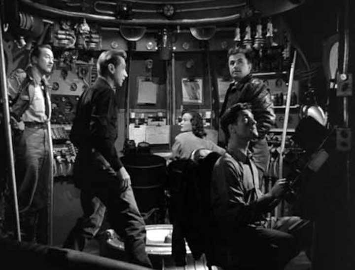 Rocketship XM the crew inside their ship