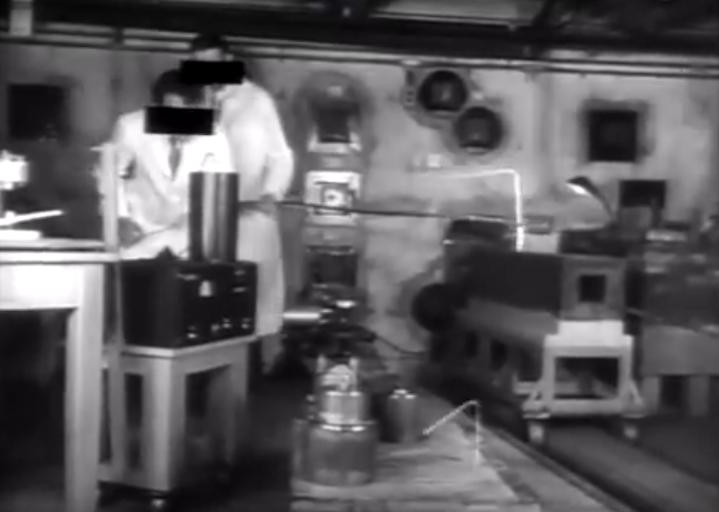 splitting the atom men in white coats