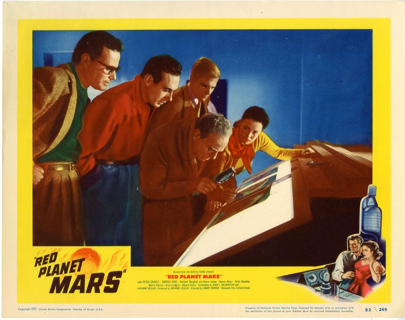 red planet mars lobby card